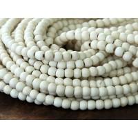 Howlite Beads, Cream, 4mm Round