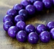 Magnesite Beads, Dark Purple, 10mm Round
