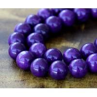 Magnesite Beads, Dark Purple, 8mm Round