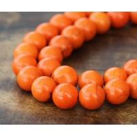 Magnesite Beads, Orange, 10mm Round