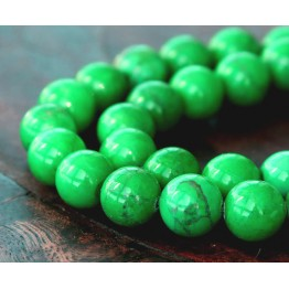 Magnesite Beads, Apple Green, 10mm Round
