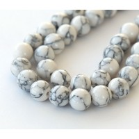 Magnesite Beads, White, 10mm Round