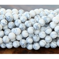Magnesite Beads, White, 4mm Round
