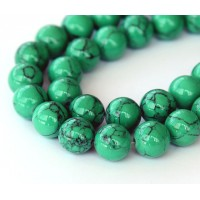 Magnesite Beads, Green, 10mm Round