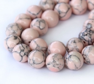 Magnesite Beads, Blush Pink, 10mm Round