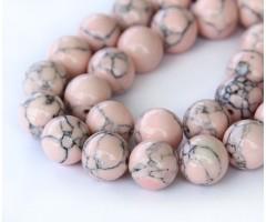 Magnesite Beads, Blush Pink, 10mm Round