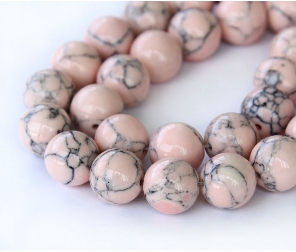 Magnesite Beads, Blush Pink, 8mm Round
