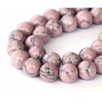 Magnesite Beads, Mauve, 10mm Round
