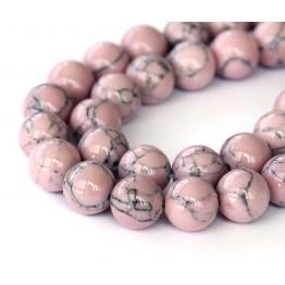Magnesite Beads, Mauve, 10mm Round