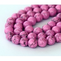 Magnesite Beads, Orchid, 6mm Round