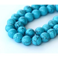 Magnesite Beads, Sky Blue, 8mm Round