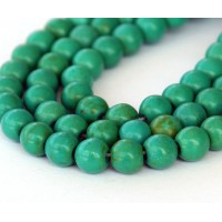 Magnesite Beads, Bright Green, 8mm Round