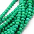 Magnesite Beads, Bright Green, 8mm Round
