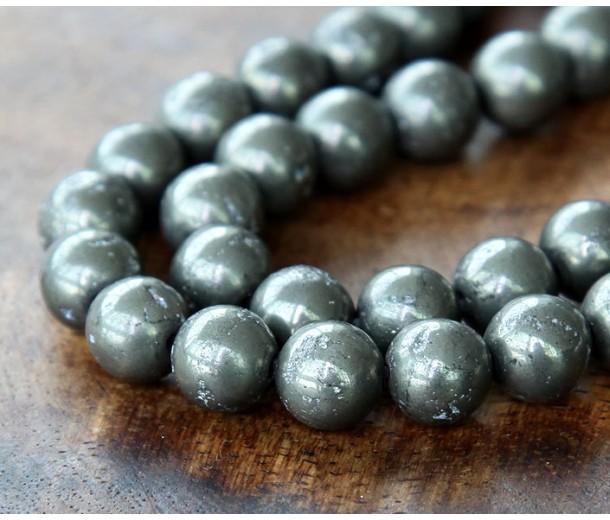 Pyrite Beads, 6mm Round