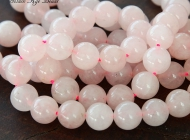 Rose Quartz Beads, 10mm Round