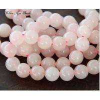Rose Quartz Beads, 10mm Round