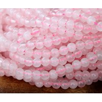Rose Quartz Beads, 4mm Round