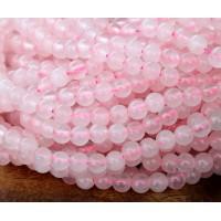Rose Quartz Beads, 4mm Round