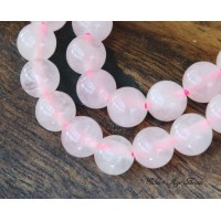 Rose Quartz Beads, 6mm Round