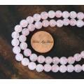 Rose Quartz Beads, 6mm Round