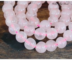 Rose Quartz Beads, 8mm Round