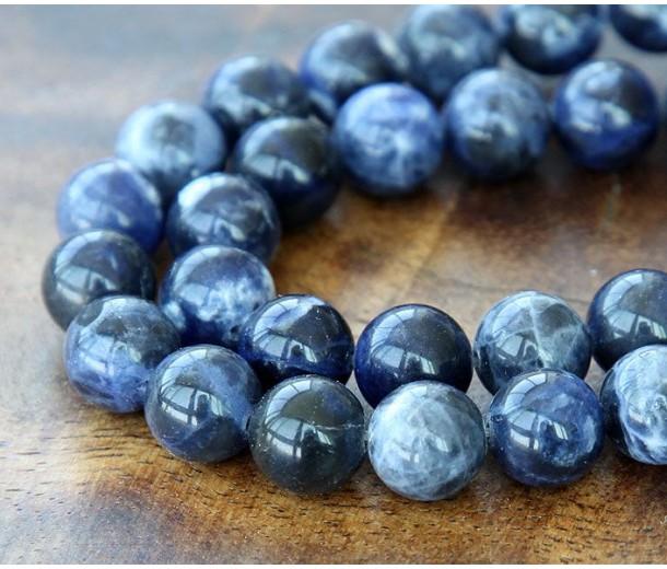 Sodalite Beads, 8mm Round, 15 Inch Strand