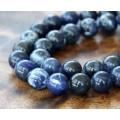 Sodalite Beads, 10mm Round, 15 Inch Strand