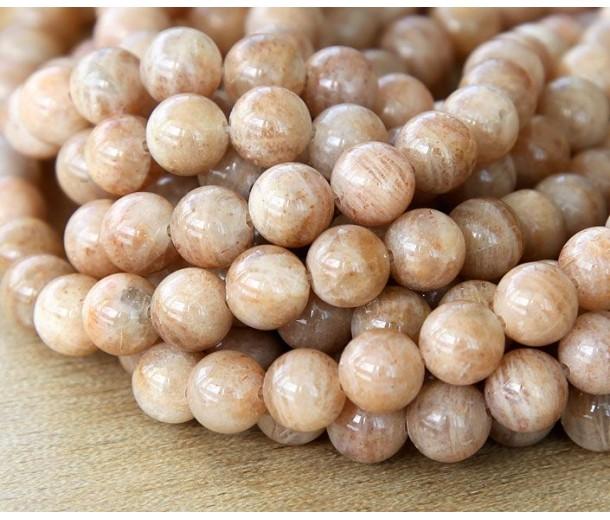 Sunstone Beads, 8mm Round
