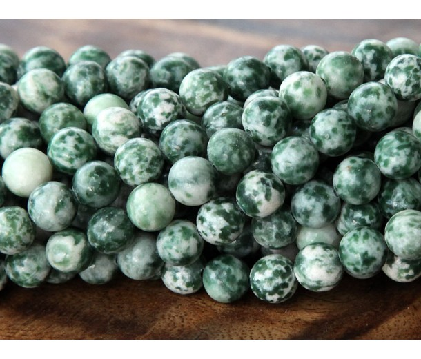 Tree Agate Beads, 8mm Round