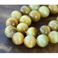 Tiger Eye Beads, Goldenrod, 10mm Round