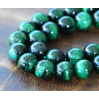 Tiger Eye Beads, Green, 8mm Round