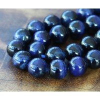 Tiger Eye Beads, Midnight Blue, 10mm Round