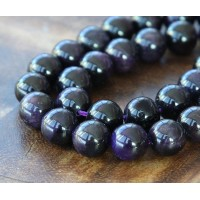Tiger Eye Beads, Dark Purple, 8mm Round