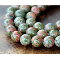 Unakite Beads, 10mm Round