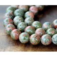 Unakite Beads, 10mm Round