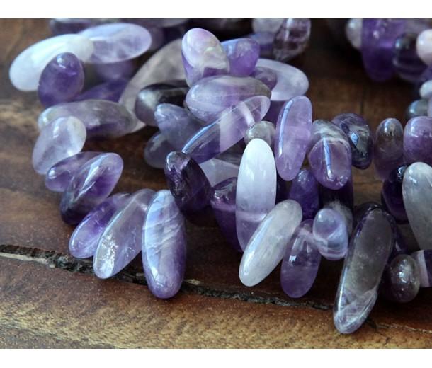 Amethyst Stick Beads, 12-20mm