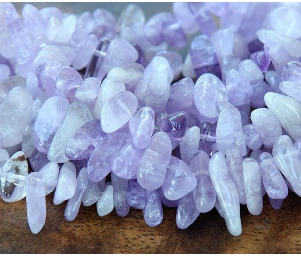 Amethyst Stick Beads, 12-20mm