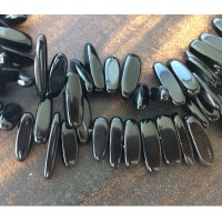 Obsidian Stick Beads, 12-20mm