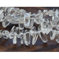 Quartz Crystal Stick Beads, 12-20mm