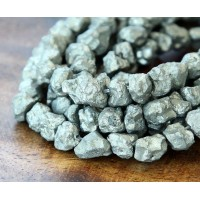 Pyrite Beads, Medium Rough Nugget