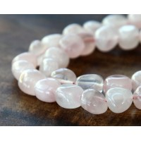 Rose Quartz Beads, Small Nugget