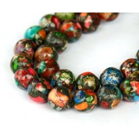 Impression Jasper Beads, Multicolor, 10mm Round