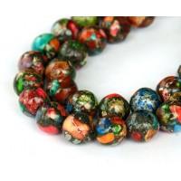Impression Jasper Beads, Multicolor, 10..