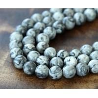 Scenery Jasper Beads, 5mm Round