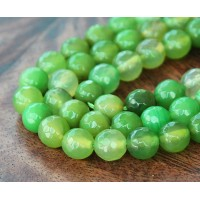 Agate Beads, Apple Green, 6mm Faceted Round