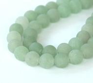Matte Green Aventurine Beads, 8mm Round