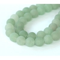 Matte Green Aventurine Beads, 8mm Round