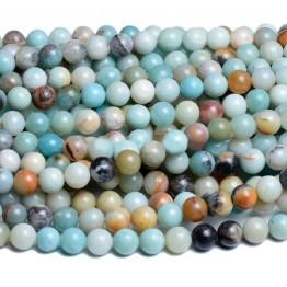 Amazonite Beads, Multicolor, 6mm Round
