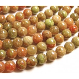 Autumn Jasper Beads, 10mm Round