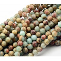 Snakeskin Jasper Beads, 6mm Round